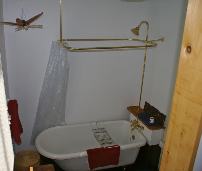 El baño principal - otro medio baño está arriba