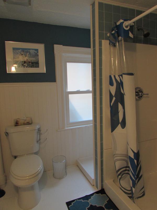 A l'étage salle de bains avec douche