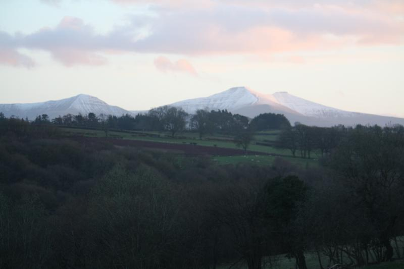 The famous Brecon Beacons - the perfect backdrop to bbq's on the decking