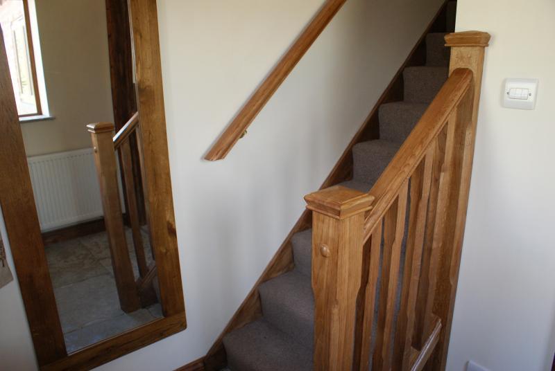 Las escaleras que conducen a la primera planta.