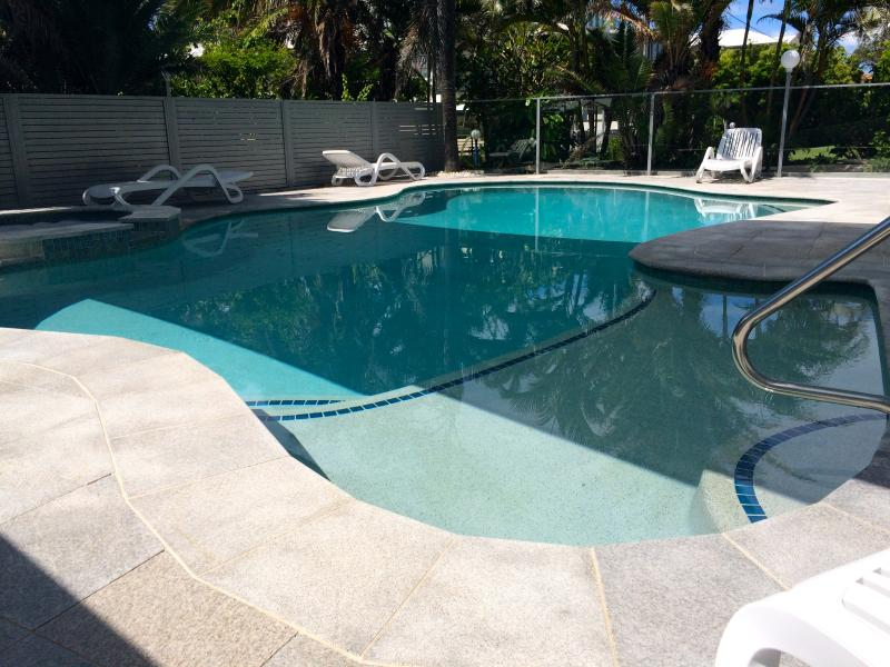 A lovely large shallow section of the pool, perfect for the little ones.