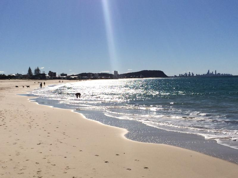 On Palm Beach looking north towards Surfers Paradise.