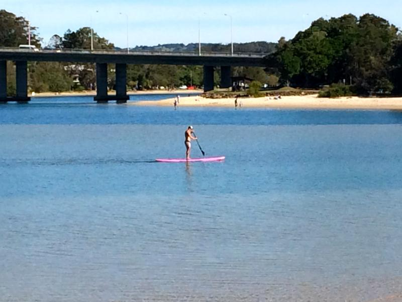 Stand up paddle boards are available for hire close by at Currumbin Estuary.