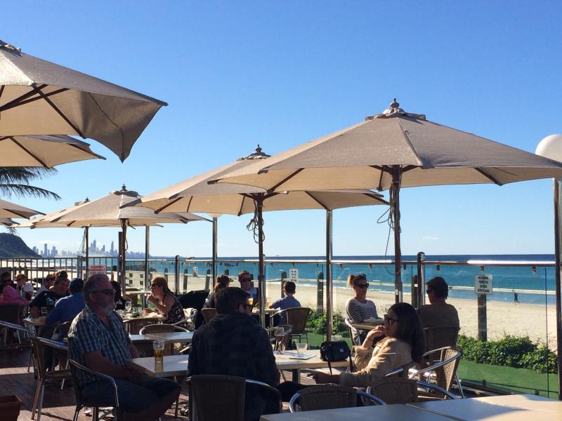 Enjoy a drink on the deck of the surf club whilst soaking up the beautiful views.