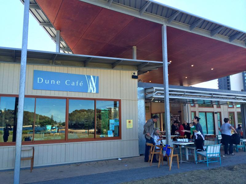 Dune Cafe serves great coffee, breakfast and lunch - walk there in 15mins or drive there in 3mins.