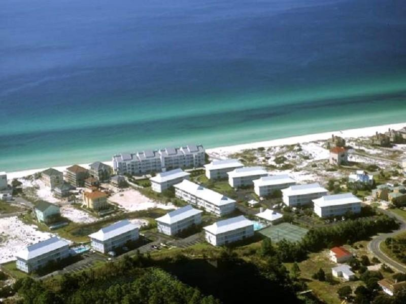 Aerial View of Beachside Villas