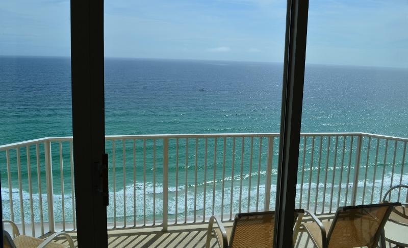 Ocean front balcony.