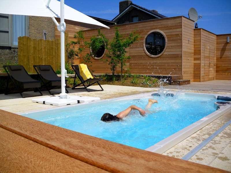 Piscine 29°C, Jacuzzi 37°C toute l'année à votre disposition.