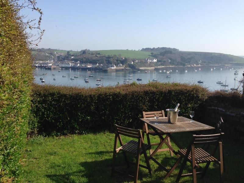 Stunning views across the Carrick Roads to Flushing from the private, fully enclosed garden