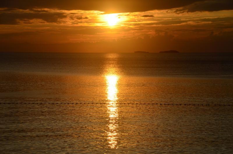 Pôr do sol na praia de Terrazas