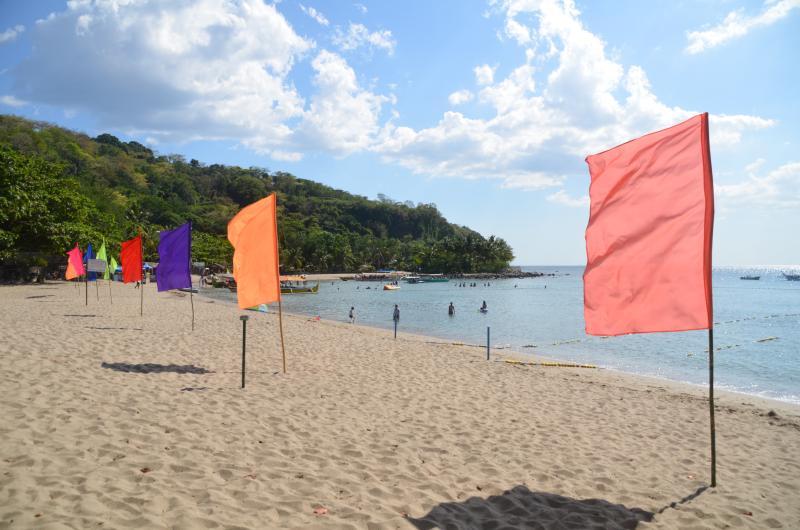 Vista à esquerda da praia Terrazas.
