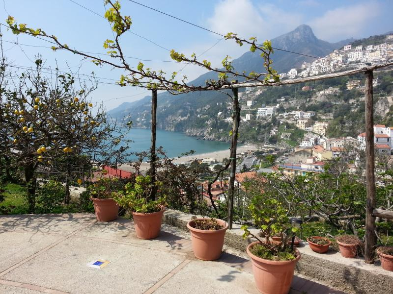 the views that can be admired from the terrace, Amalfi Coast