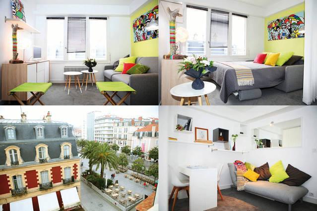 Mosaique salon/ Chambre/Vue Place Clemenceau / séjour