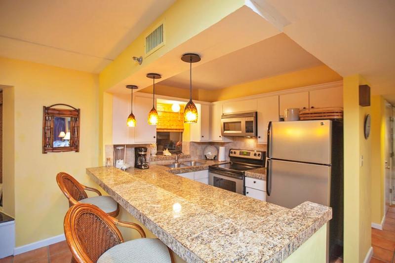Open Kitchen w/ Granite & Stainless Steel Appliance