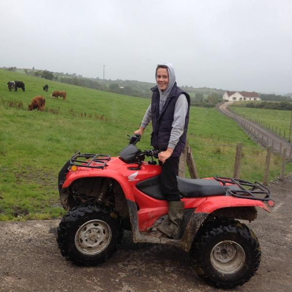 James on the quad