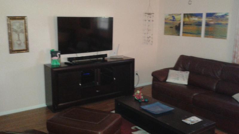 Living room 55 inch smart flat screen