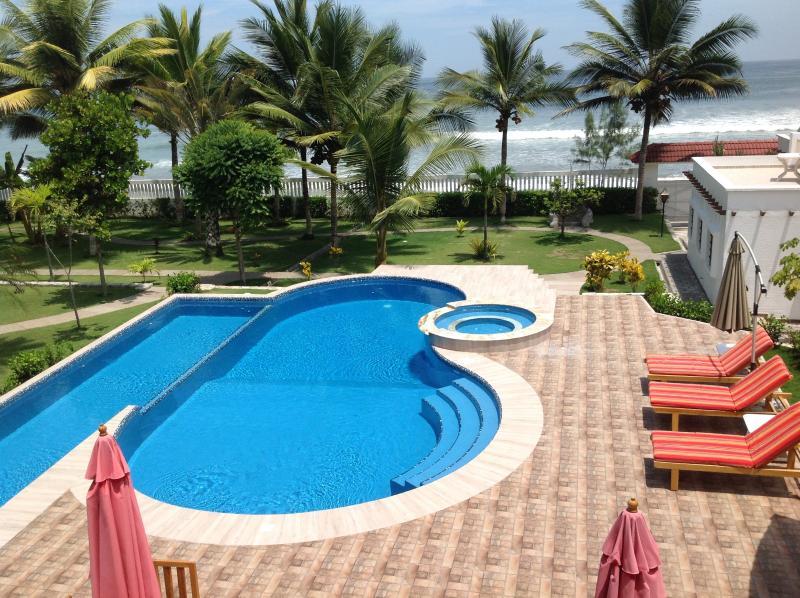 Pool side view.