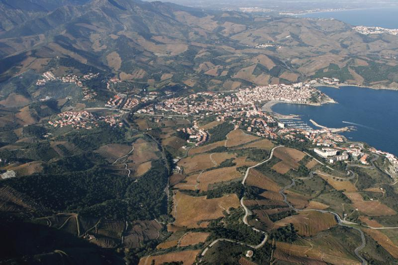 Banyuls, vue aérienne