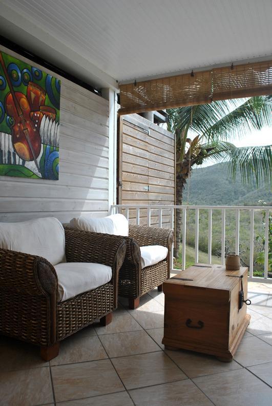 la salon d'exterieur en terrasse