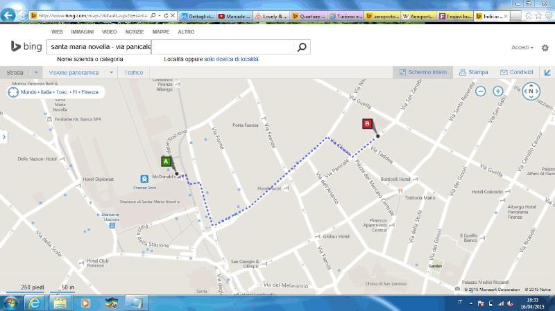 Mappa stazione-appartamento