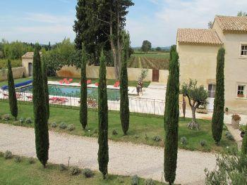 Vista da piscina do terraço, Mont Ventoux, do outro lado...