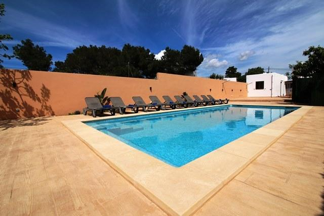 Private pool area with loungers for all