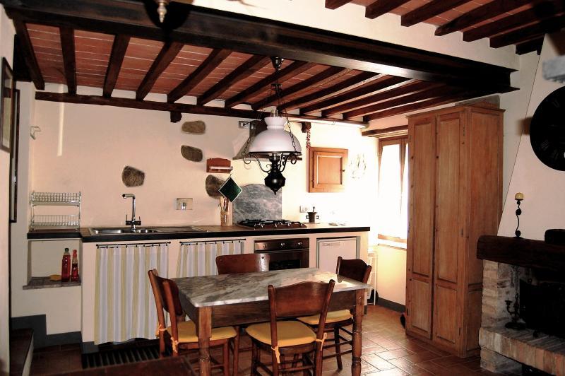 A cozinha totalmente equipada