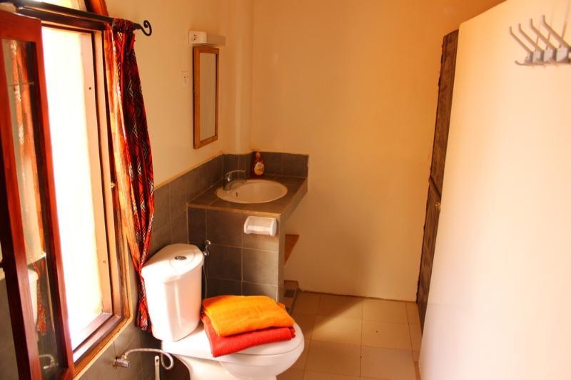 Salle de bains et toilettes du Studio Sekhmet