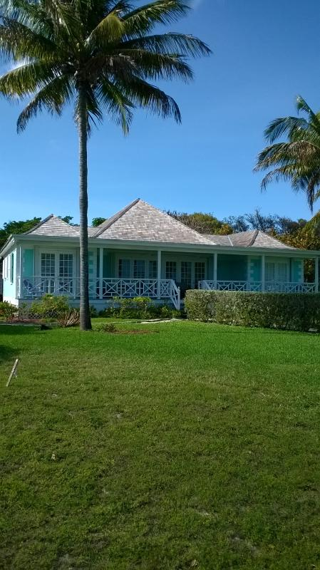 Back of the Blue Inn Villa from the beach