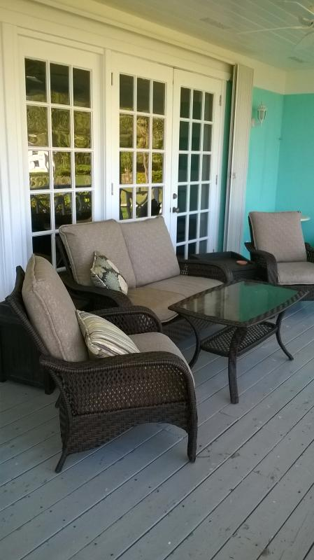 Back Deck all fully furnished, just grab a cup of coffee and watch the sunsets