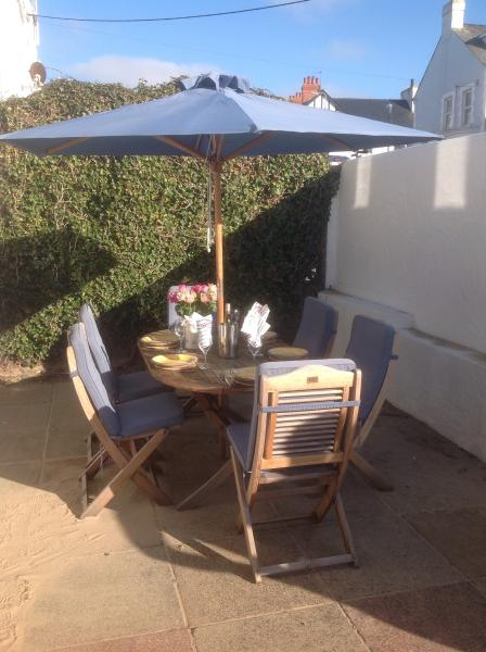 Great rear courtyard for the BBQ