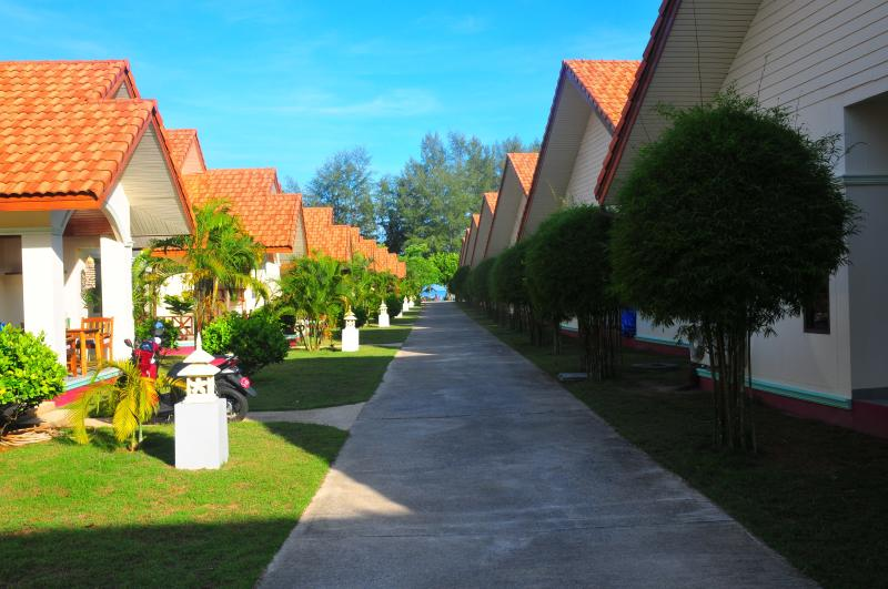 Three rows of 10 villas - row C is on the left