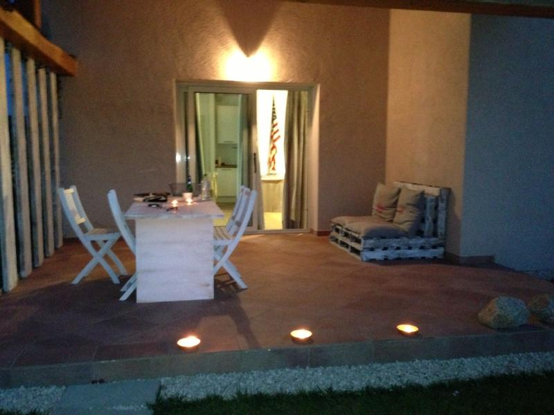 summer evenings under a cool patio in typical Sardinian stone structure