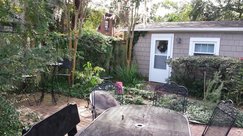 Entrance to studio patio/garden