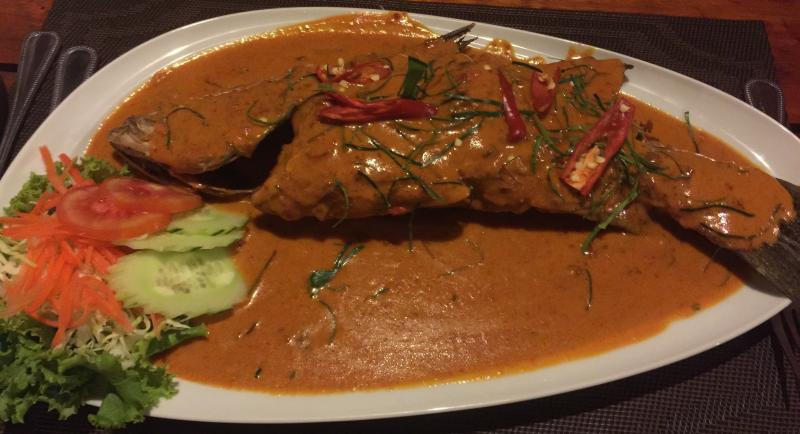 Delicious seafood choices with a variety of Thai sauces available