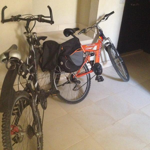 Our 2 free to use bikes while on your holiday