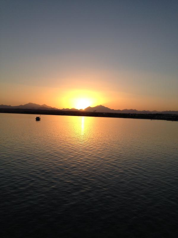 sunset over the bay in salh hasheesh