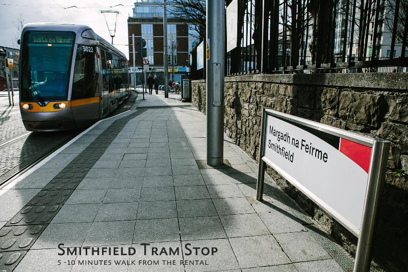 The Smithfield Tram will have you into the city in less than 10 minutes