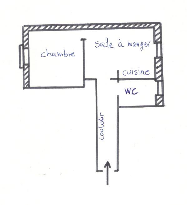 Plano del apartamento Côte Vermeille (4 personas)