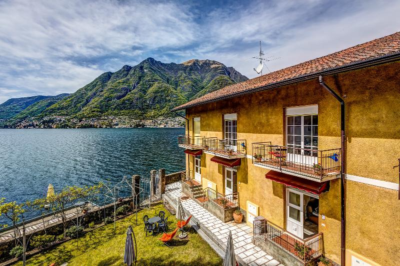 Views from  the balcony of the Lake Como Beach Resort villas