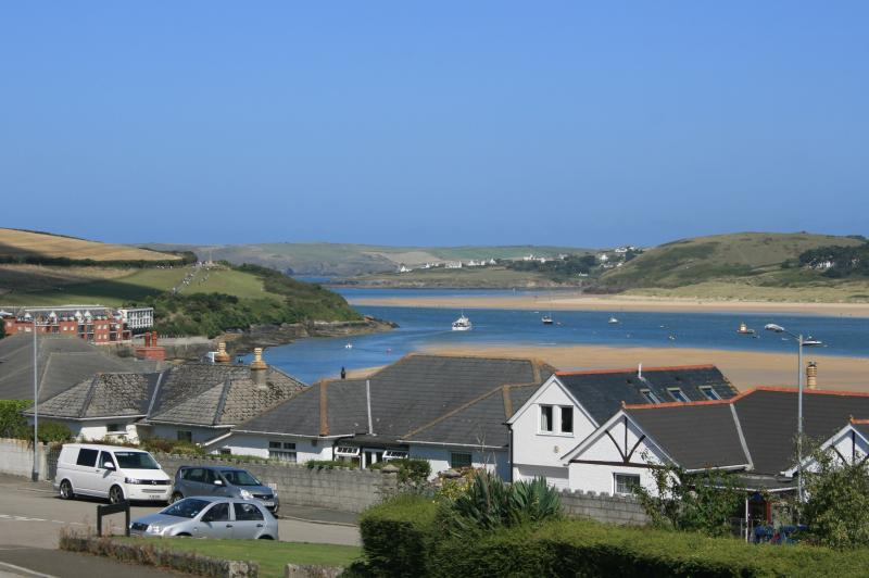 Fabulous views from the living room, master bedroom and front terrace towards Padstow harbour.