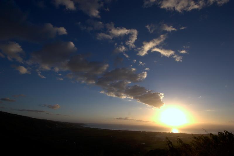 Coucher de soleil sur la Baie de SAINT PAUL