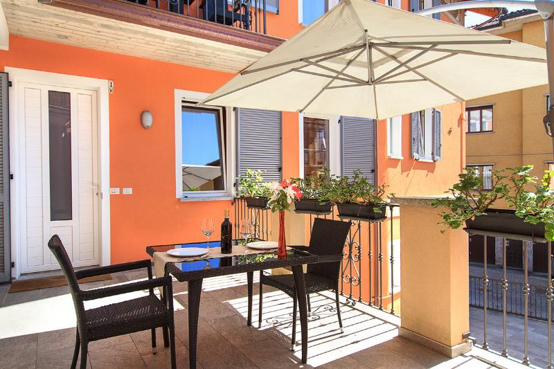 Just outside your door -- a large, sunny terrace.