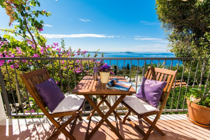 PURPLE APARTMENT WITH POOL  JACUZZI AND SEA VIEW, vacation rental in Dubrovnik