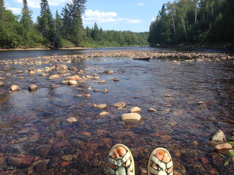 En el río en verano