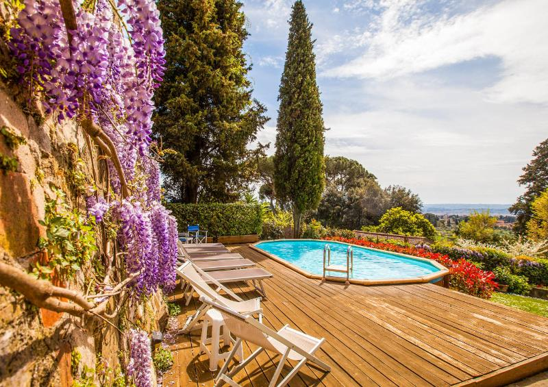 Villa Acacia, in Florence, no car needed, private pool, garden, Wi-Fi, Washers, holiday rental in Trespiano