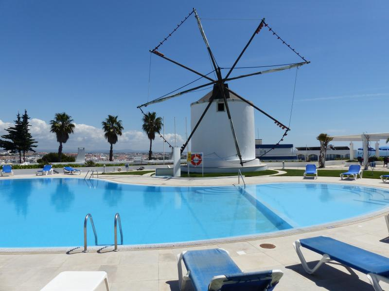 Windmill and pool at Windmill Hill