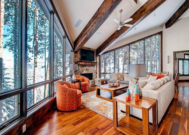 Stunning views, winter shuttle service & plenty of room for the whole family!, holiday rental in Breckenridge