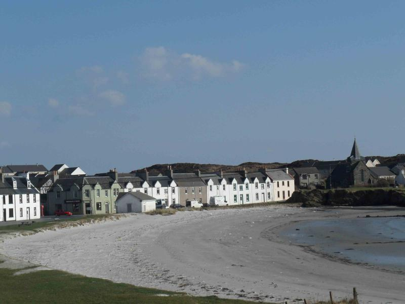The village green and beach, looking out from the double bedroom window