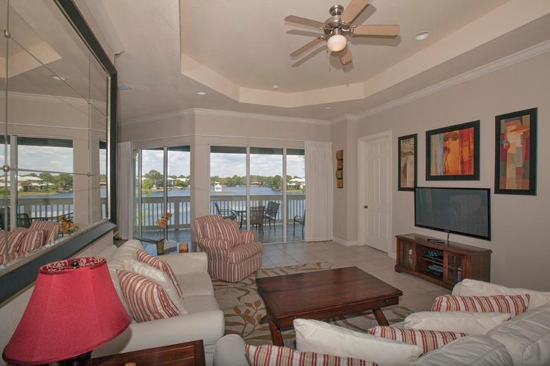 Living Area w/ Balcony View